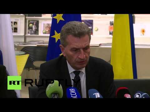 Belgium: Russia, Ukraine and EU to continue gas talks - Oettinger