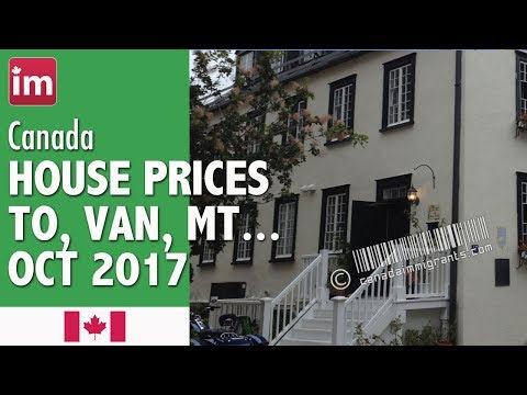 Home Prices Vancouver, Toronto (October) | Cost of Living in Canada