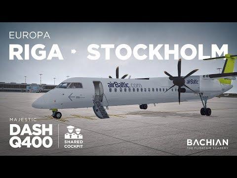 Prepar3Dv4 - Dash-8 Q400 / Riga → Stockholm ** Shared Cockpit **
