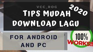 Tutorial Download lagu & video, 100%MUDAH tanpa Iklan atau apapun!