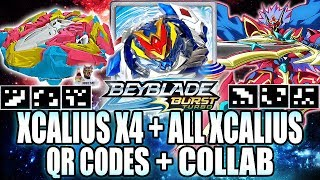 XCALIUS X4 QR CODE + ALL XCALIUS COLLAB! BEYBLADE BURST TURBO APP