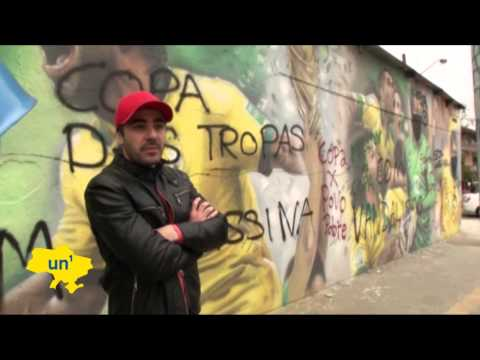 Brazil World Cup Graffiti Protest: Brazilian street artists express opposition to World Cup costs