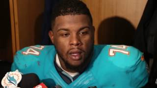 Videos: Miami Dolphins Jermon Bushrod speaking to reporters after game against Patriots