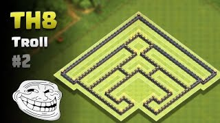 Clash of Clans ⚫ TH8 Troll Base #2