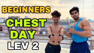 CHEST DAY LIVE STREAM AT HOME| lev 2 |MONDAY| BADRI FITNESS