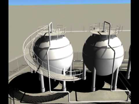 Laser Scanning can produce 3D models such as these Industrial Tanks