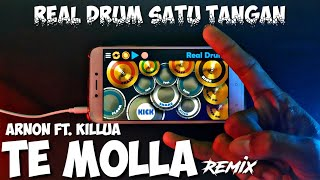 VIRAL BOSS.!! Arnon Ft. Killua - Te Molla Real Drum Satu Tangan Cover