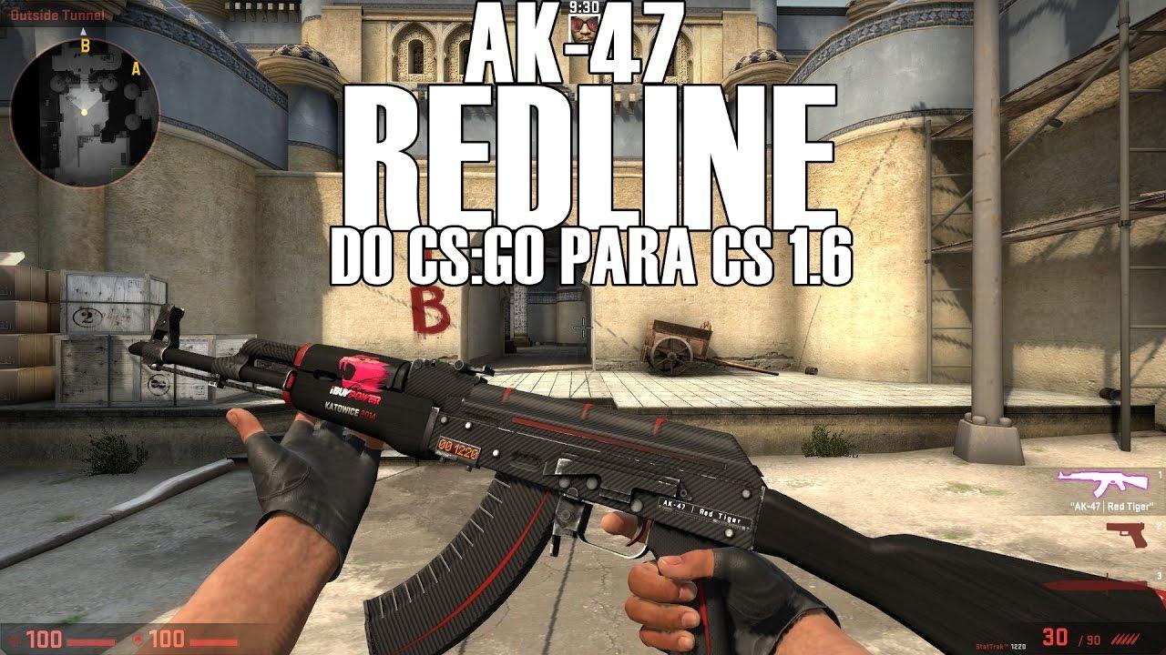 Ak 47 Redline >> Cs Go Ak 47 Redline Para Cs 1 6 Ct Hands