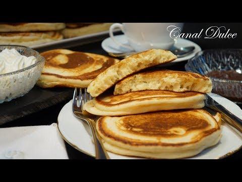 TORTITAS AMERICANAS FÁCILES Y MUCHO MAS ESPONJOSAS PANCAKES , HOT CAKES