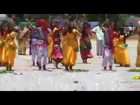 Bonalu dance by SLS school suryapet