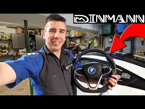 Installing A Carbon Fiber Steering Wheel On The BMW I8 Made By Dinmann Custom Carbon Fiber