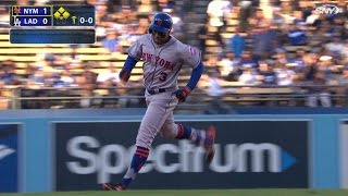 NYM@LAD: Granderson belts 20th leadoff shot with Mets