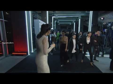 Cansu Dere interview at the red carpet of GQ Men Of The Year