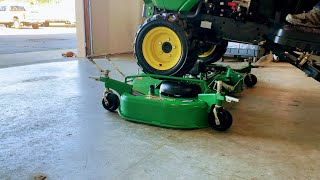 Tips On How To Install & Remove A John Deere AutoConnect Mower Deck. John Deere 1025r 1023e 1026r
