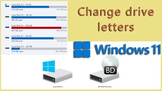 How to change a drive letter in Windows 11