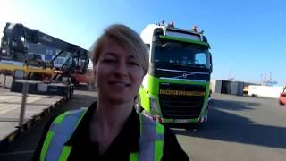 Pierwszy ładunek w Europie, My first pick up in Europe - Iwona Blecharczyk