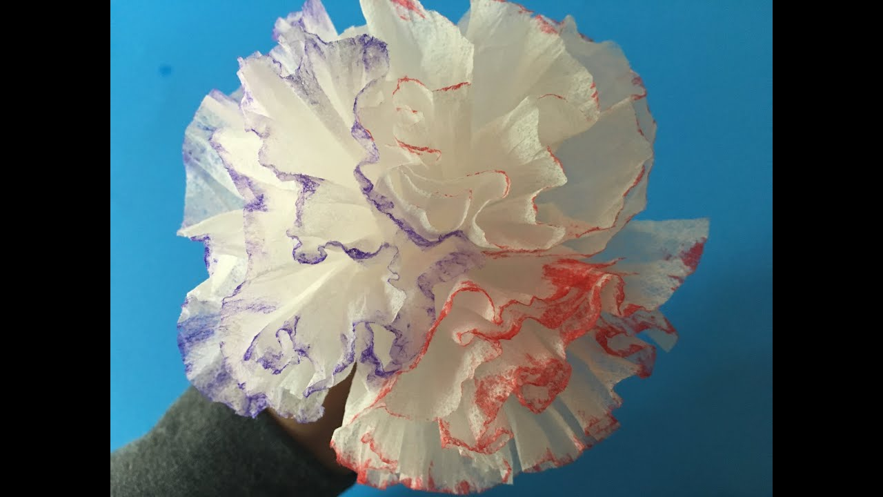 How To Make A Origami Carnation In 3 Minutes With Face Tissue For
