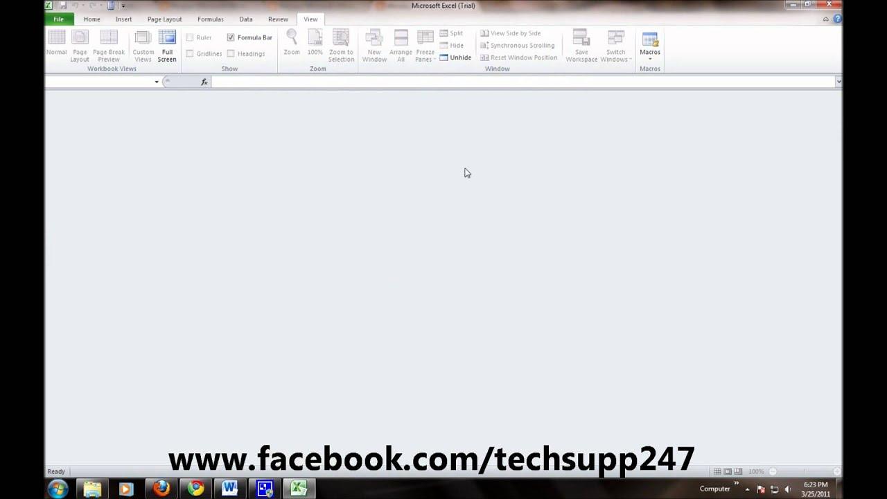 Hide Or Unhide Workbooks In Microsoft Excel