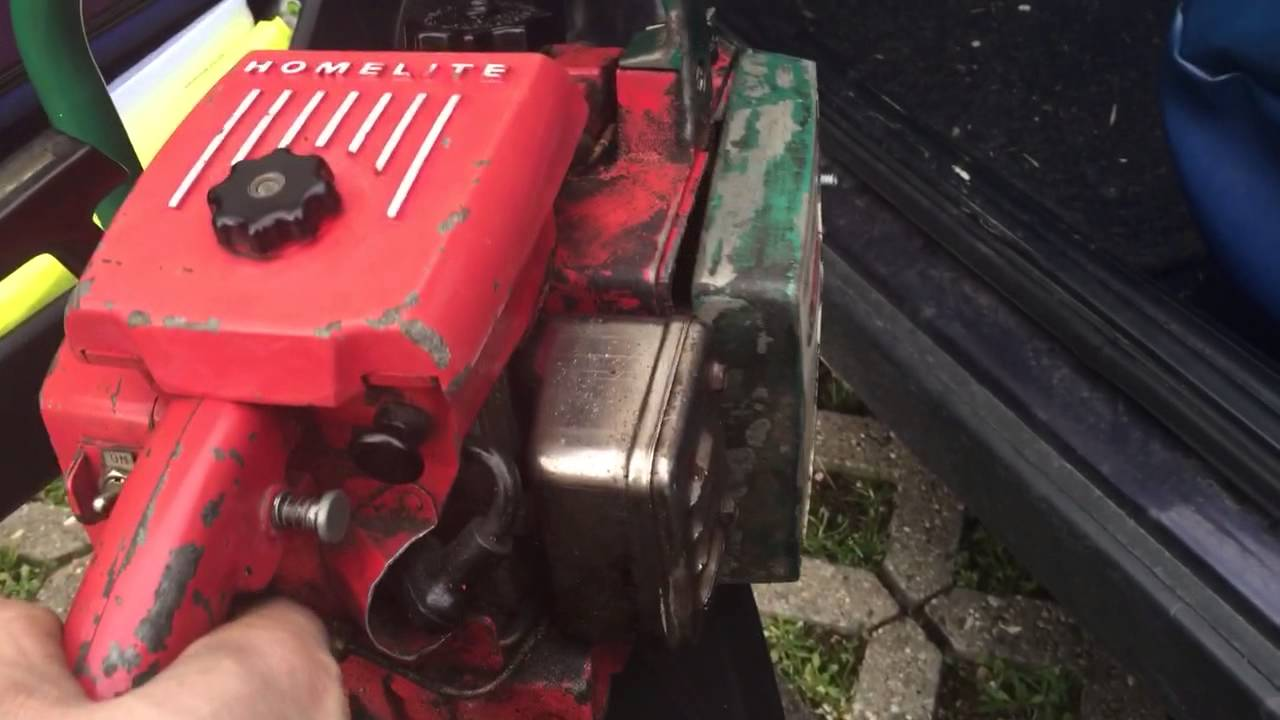 Homelite XL Automatic First run After Carb cleaning