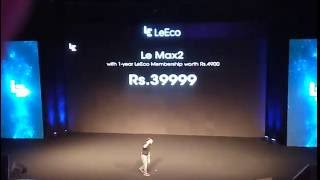 Prices Of upcoming Smartphones of LeEco revealed at LeEco Event.Le2,LeMax2 and CDLA Earphones.