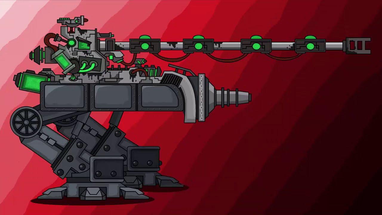 Как Нарисовать танк Мега ТОКСИКУС для мультики про танки