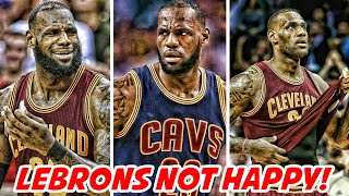 Lebron james is disappointed with the cavaliers! | nba news