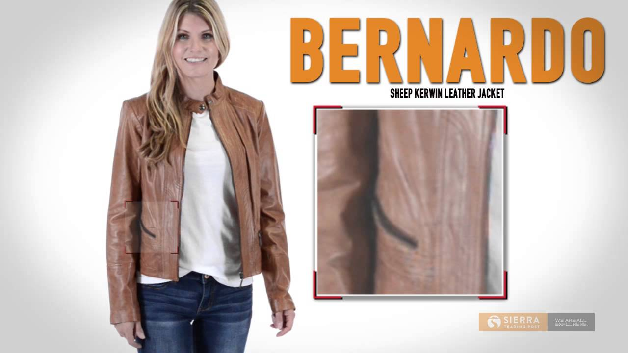 496d4cbc9bfb3 Bernardo Sheep Kerwin Leather Jacket - Front Zip (For Women) - YouTube