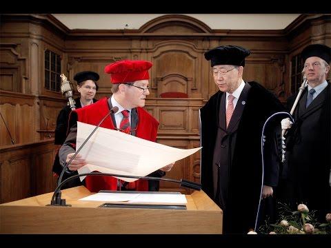 Eredoctoraat / honorary doctorate  Ban Ki-moon
