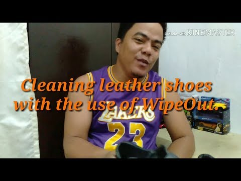 Cleaning Leather Shoes with the use of WipeOut - Ukay shoes