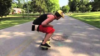 Скейтер посрал со скейта
