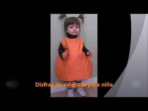 Disfraz calabaza para nia con moldes Disfraz Halloween YouTube