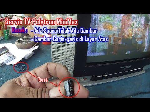 Servis TV Polytron MiniMax Rusak Ada Suara Tidak Ada Gambar