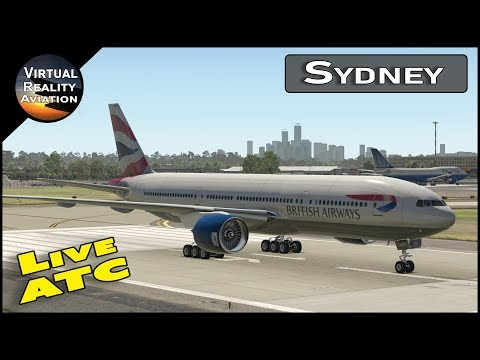 Sydney International Airport with Live ATC  and Airline Flight Schedules | X-Plane 11
