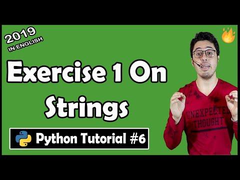 Exercise 1: Capitalize my name & String concatenation | Python Tutorial #6 thumbnail