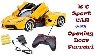 Rc sport car with open door   ferrari 2017 model   kids toy