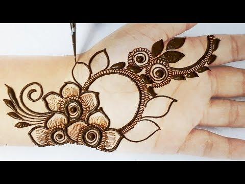 आसान मेहँदी डिज़ाइन लगाना सीखे - Mehndi design Easy, Beautiful - Stylish Arabic Mehndi Design