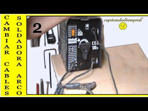 CAMBIAR CABLES EN SOLDADORA AL ARCO (2) changing arc welding wires