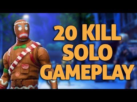 20 Kill Gameplay - Fortnite Solo Gameplay - Ninja