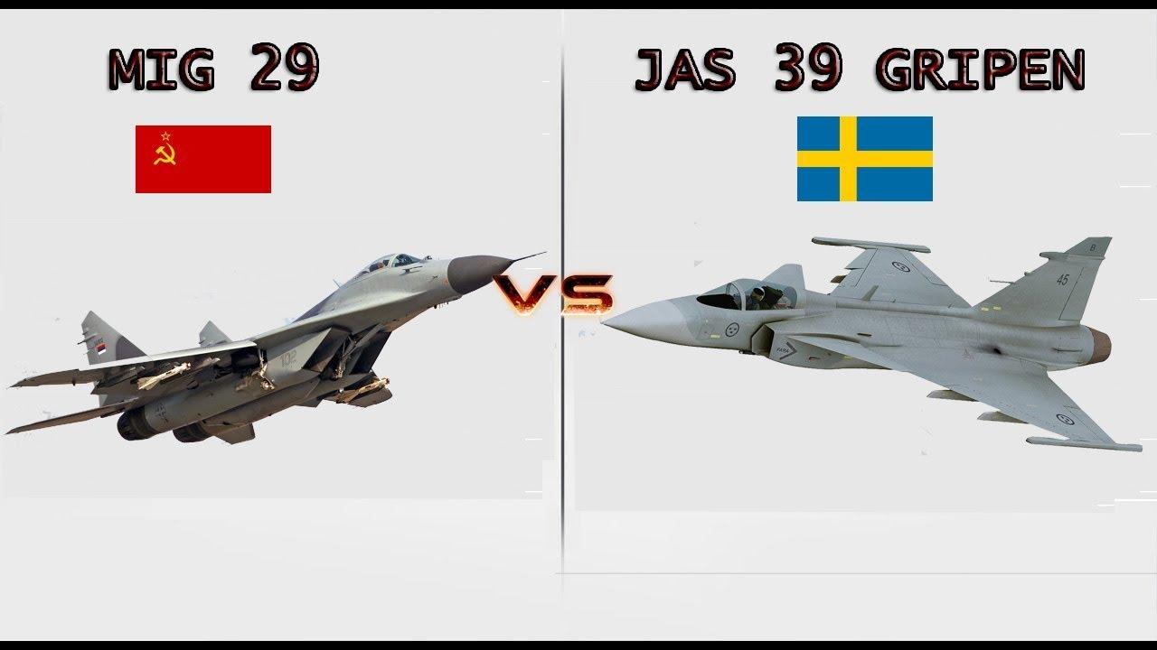 MIG 29 VS JAS 39 GRIPEN
