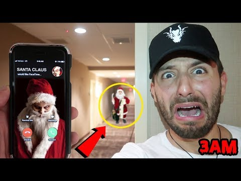 CALLING SANTA CLAUS ON FACETIME AT 3AM BEFORE CHRISTMAS | CATCHING SANTA CLAUS USING COOKIES & MILK!