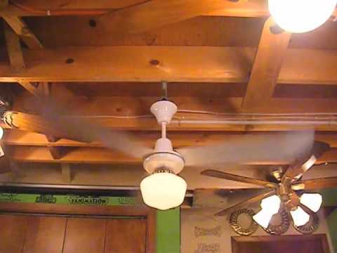 Golden Fan Industrial Ceiling Fan w/ Light