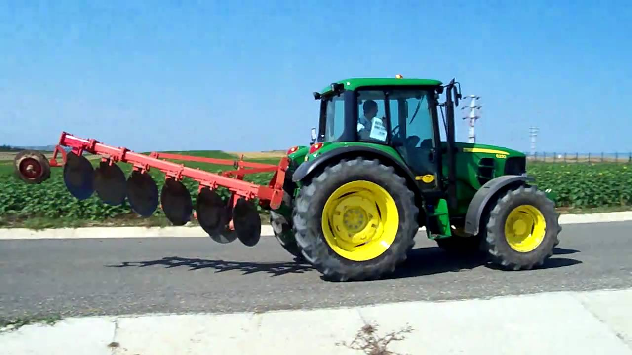 John Deere 6330 Amp 214 Zd 214 Ken Disc Plough On The Road Hd 2010