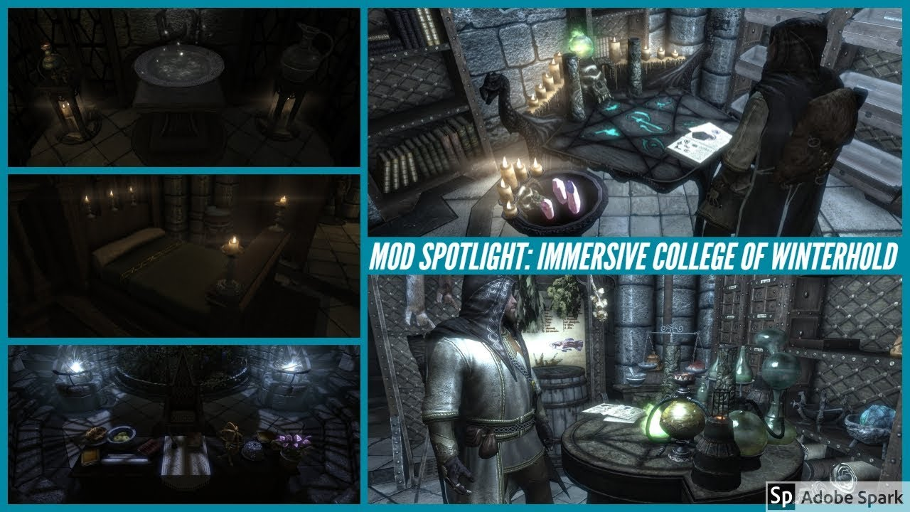Skyrim Special Edition Mod: Immersive College Of Winterhold (Part 1)  Arch-Mage's Quarters