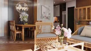 Thiết kế nội thất căn hộ Chung cư Lạc Hồng West Lake của Cô Họa sĩ