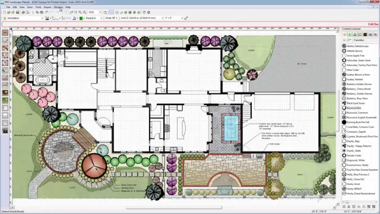Easy to use cad for landscape design with pro landscape Simple cad software