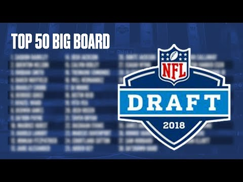 Top 50 Big Board for Prospects in the 2018 NFL Draft