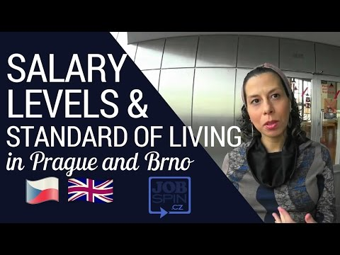 Salary Levels and Standard of Living in Prague and Brno