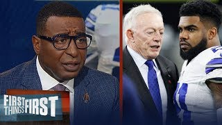 Cris Carter agrees Jerry Jones has 'earned the right' to joke about Zeke | NFL | FIRST THINGS FIRST