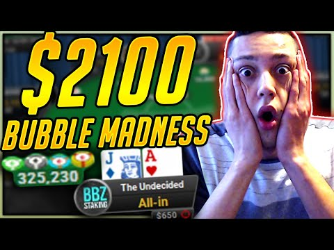 Can I Overcome This $2100 Final Table Bubble? (Twitch Poker Highlights)