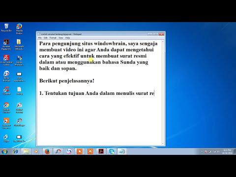 Tips Untuk Membuat Surat Resmi Menggunakan Bahasa Sunda